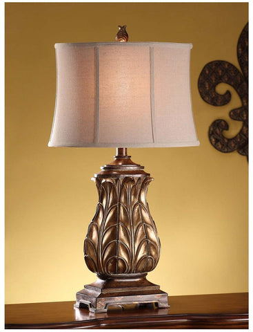 Table Lamp Regency Gold Finish And Cream Shade #070845-14