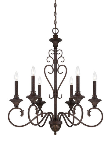 Chandelier Bronze Finish  #010812-015