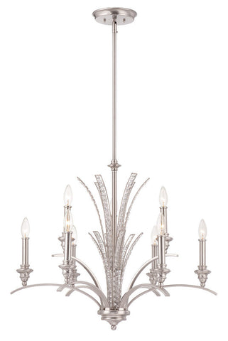 Chandelier Satin Nickel Finish With Crystal Accents #010812-015