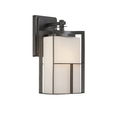 Outdoor Wall Light Black Finish And Frosted Glass #170912-015