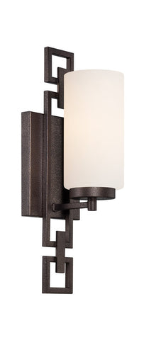 Vanity Light Bronze Finish And Frosted Glass #090811-014