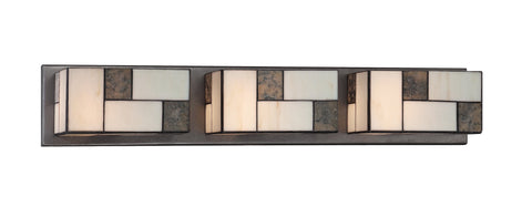 Vanity Light Charcoal Finish And Art Glass #090812-014