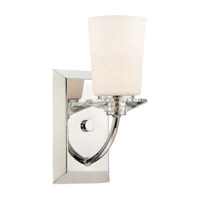 Vanity Light Chrome Finish And Frosted Glass #090812-014