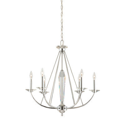 Chandelier Chrome Frame And Crystal Accents #010812-42