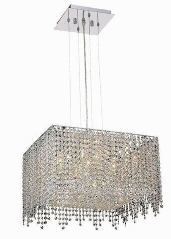 Chandelier Chrome Finish And Clear Crystal #01082189-16