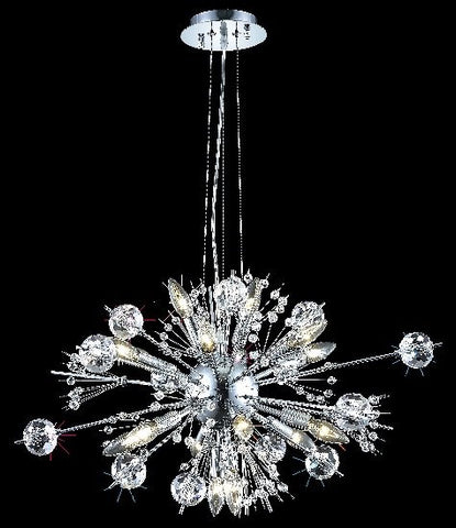 Pendant Chrome Finish And Cut Crystal #020835-014