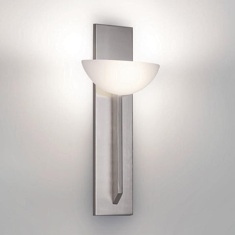 Wall Light Brushed Nickel Finish With Glass Shade #100852-014