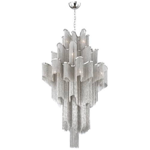 Chandelier Nickel Finish With Fine Chains #010815-14