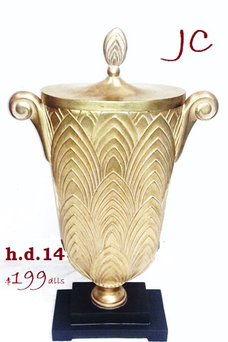 Accessories Satin Gold Decorative Vase 20-118-JSH-14