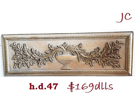 Accessories  Decorative Wall Frame Light Brown e gold Finish  20-118-JSH-47