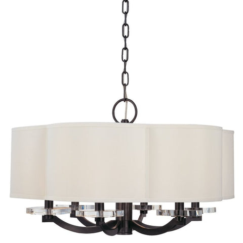 Chandelier Bronze Finish And Crystal Bobaches  #010832-21