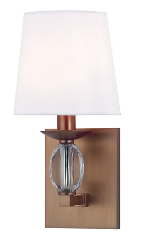 Wall Sconse  Brushed Bronze And Crystal Accent With Silk Shade #100832-341