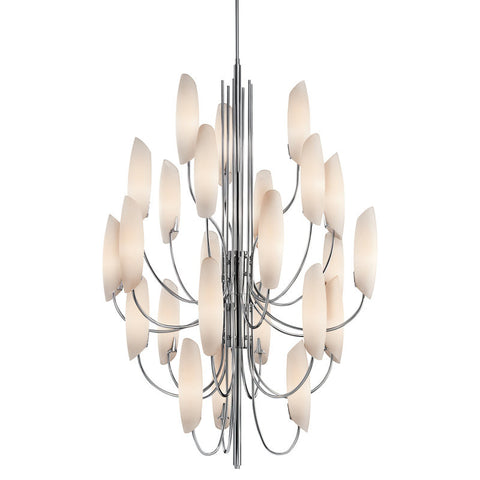 Chandelier  Chrome Opal Glass Shade #010831-344