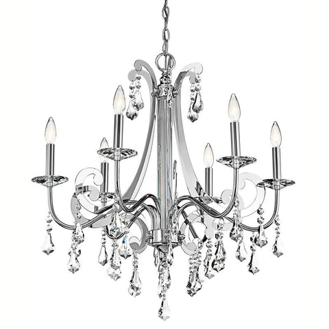 chandelier Polished Chrome Finish and Crystal Accents #010831-53