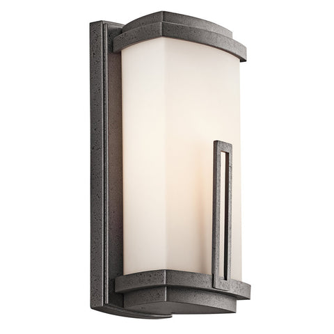 Outdoor Wall Light Iron Finish And Opal Glass #170931-00
