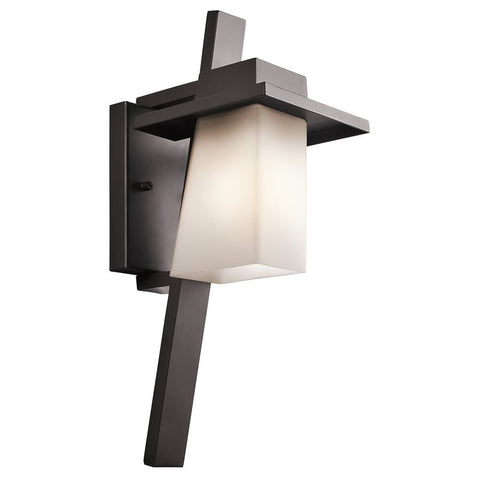 Outdoor Wall Light Bronze Finish And Frosted Glass  #170931-014