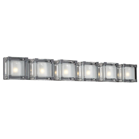 Vanity Light polished Chrome and Clear Glass #90839-137