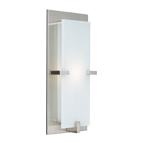 Indoor Wall Light Satin Nickel And opal Glass 100839-311