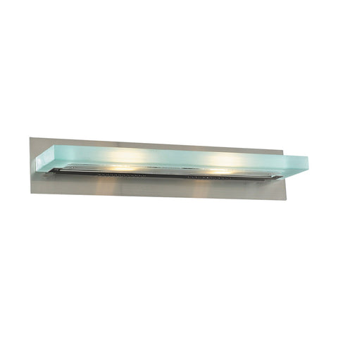 Bathroom Light  Satin Nickel Finish and Acid Frost Glass #90839-014