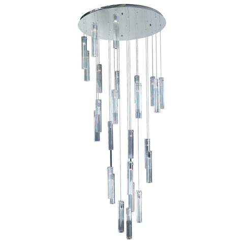 Chandelier Chrome Finish An Crystal #010839-14