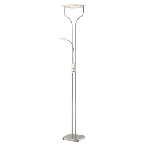 Floor Lamp Brushed Nickel Square Led And Reading LED 33602-18