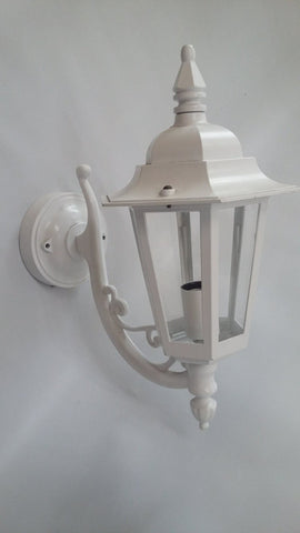 Outdoor Wall Light Aluminum White Finish And Acrylic Panels  17118-JSH-ML