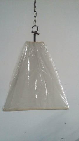 Chandelier Bronze Finish And Cream Linen Shade 1218-JSH-CM017