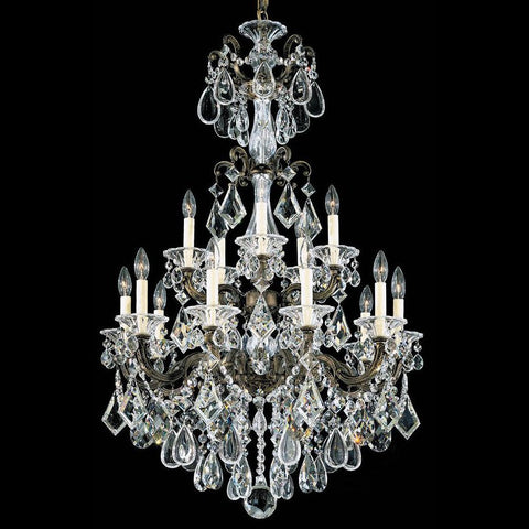 Chandelier Bronze Finish With Hand Cut Heritage Clear  Crystal #5010ES-SCH