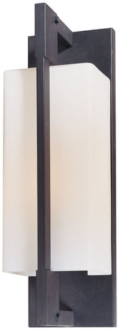 Outdoor Wall Light Black Finish and Frosted Glass #170948-015-5