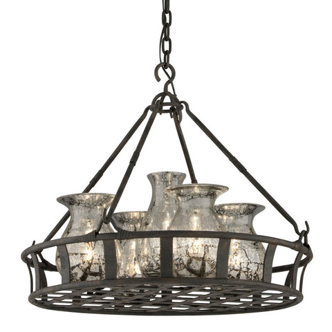Chandelier Bronze Finish And Mercury Glass 014803-16
