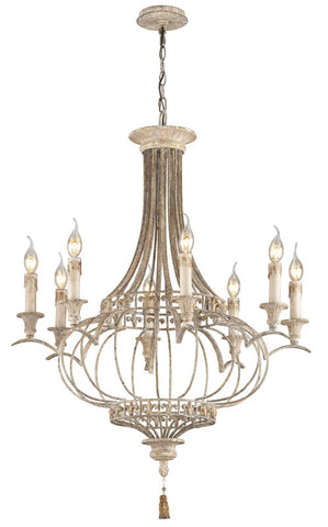 Chandelier Iron And Wood  014803-16
