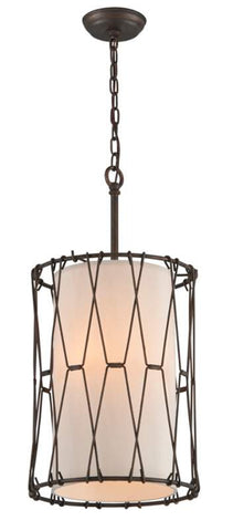 Pendant Vantage Bronze Finish and  Linen Shade 024803-16