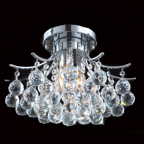 Flush Mount Chrome Finish And Clear Hand Cut Crystal 14-118-JSH-2020