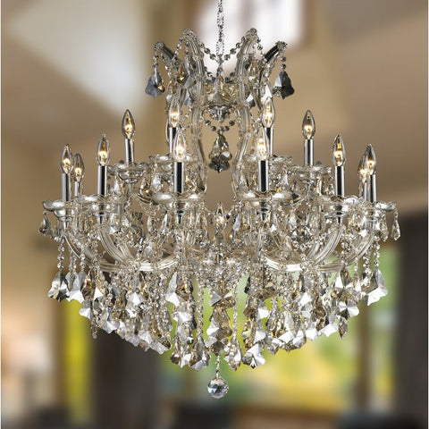 Chandelier Chrome Frame Finish And Clear Hand Cut Crystal 1-318-44 JSH-38