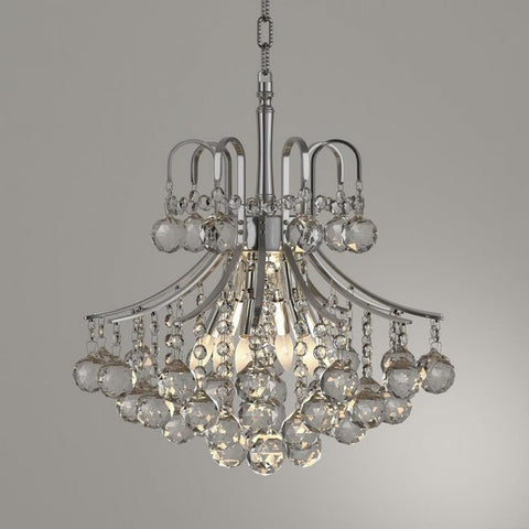 Chandelier Chrome Frame And Clear Cut Crystal 01-118-62-JSH