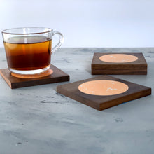 Load image into Gallery viewer, Terrazzo | Rich Walnut Wood | Neroli Coasters | Set of 4