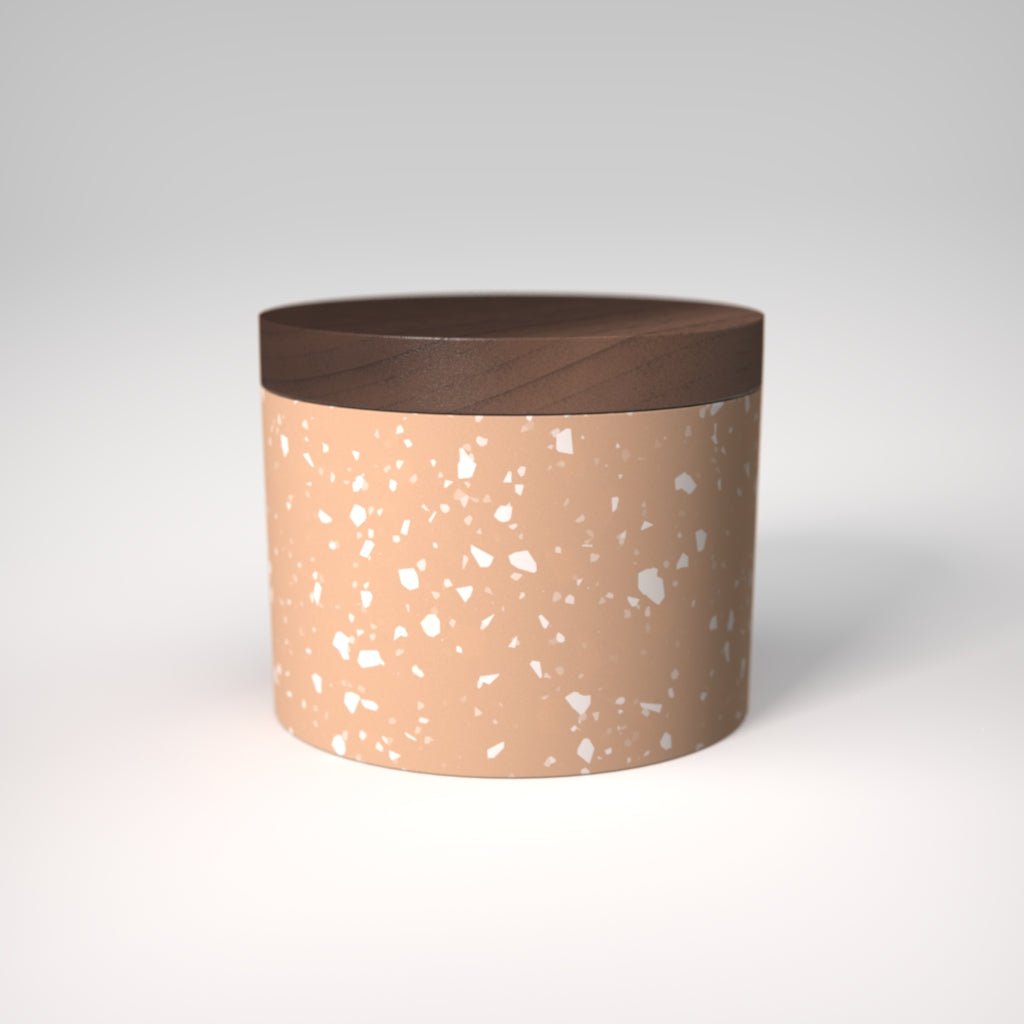 Terrazzo | Neroli Salt Cellar | Walnut Wood Lid