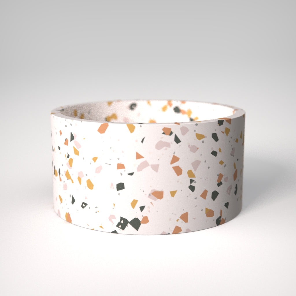 Terrazzo | Small bowl in White with colourful chips / Sinfonia