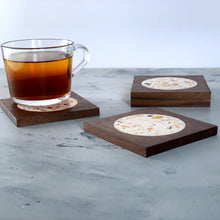 Load image into Gallery viewer, Terrazzo | Rich Walnut Wood | Sinfonia Coasters | Set of 4