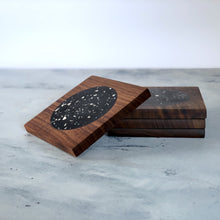 Load image into Gallery viewer, Terrazzo | Rich Walnut Wood | Stellato Coasters | Set of 4
