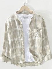 Casual Stripes Shirt Collar Shirts & Tops