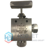 Valve-Two Way, 2 piece, Right Angle