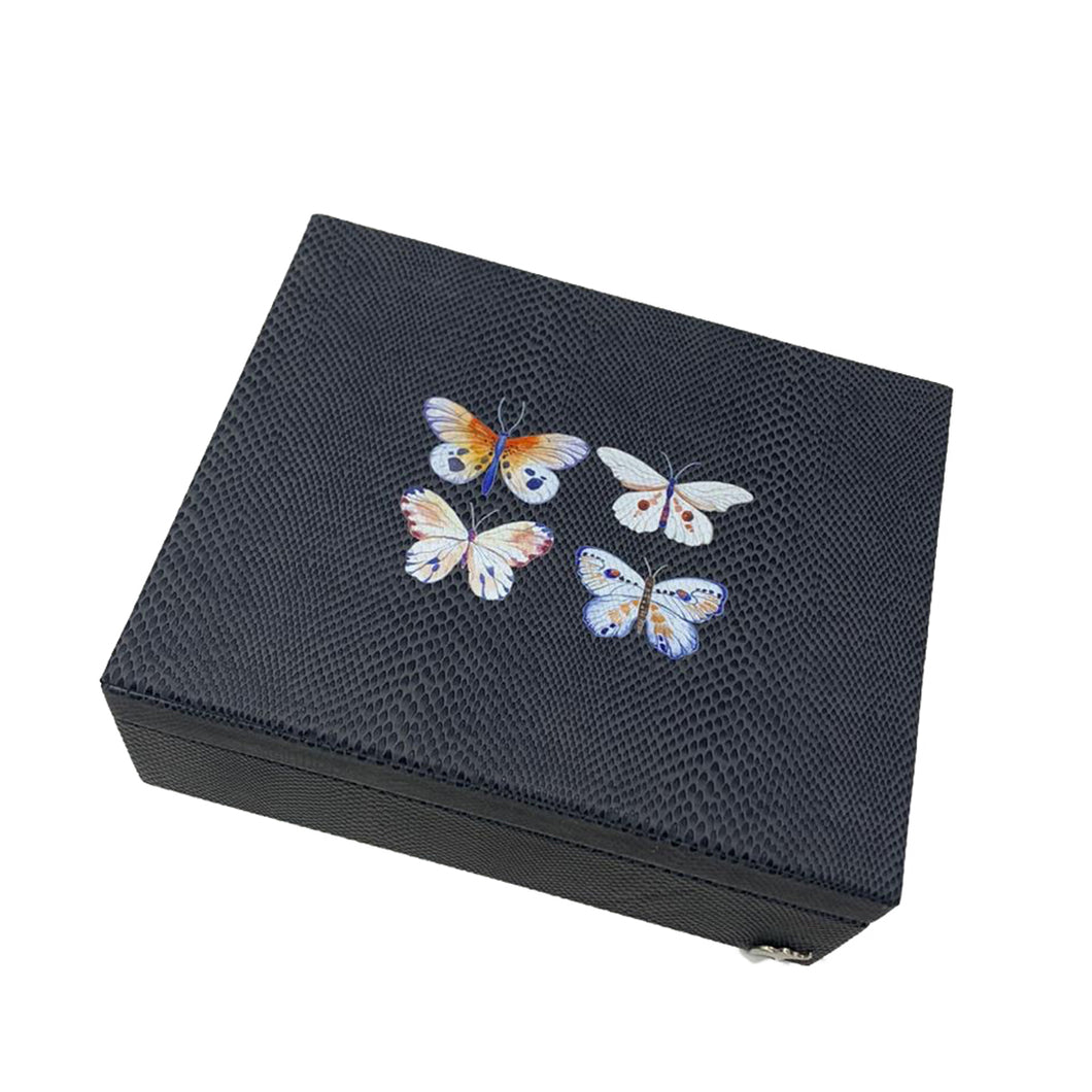 Caja Decorativa Mediana Pampa 4 Mariposas