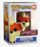 Growlithe (Flocked) - Pokemon - 597 - Pop! Vinyl - 2020 Fall Convention Exclusive