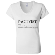 Load image into Gallery viewer, FACTIVIST Ladies' Jersey V-Neck T-Shirt