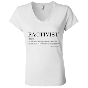 FACTIVIST Ladies' Jersey V-Neck T-Shirt