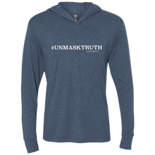 Load image into Gallery viewer, UNMASKTRUTH Unisex Triblend LS Hooded T-Shirt