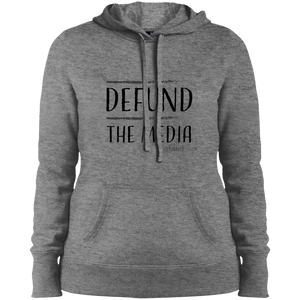 DEFUND THE MEDIA Ladies' Pullover Hooded Sweatshirt