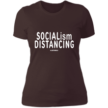 Load image into Gallery viewer, SOCIALISM DISTANCING Ladies' Boyfriend T-Shirt