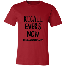 Load image into Gallery viewer, RECALL EVERS NOW Unisex Jersey Short-Sleeve T-Shirt